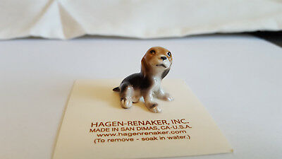 Hagen Renaker Dog Beagle Pup Figurine Miniature Collect New Free Shipping 00434