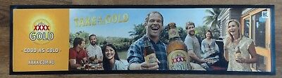 Xxxx Gold Beer Rubber Backed Bar Runner/mat Brand New