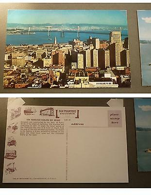 OLD 1960s POSTCARD, SAN FRANCISCO CALIFORNIA, THE OAKLAND BAY BRIDGE
