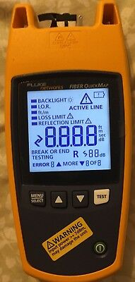Fluke networks quickmap tester with manual