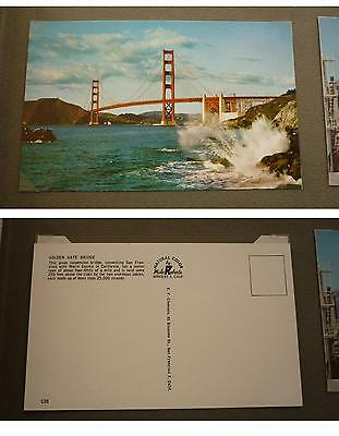 OLD 1960s POSTCARD, SAN FRANCISCO CALIFORNIA, THE GOLDEN GATE BRIDGE