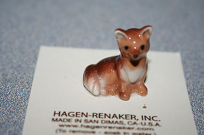 Hagen Renaker Fox Baby Figurine Miniature Gift Collect New Free Shipping 02021