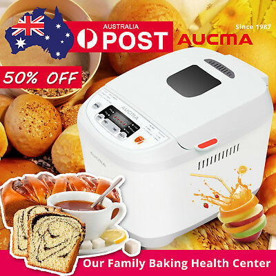 AUCMA Bread Maker Healthier Automatic Homemade Pro Doughnut Oven 12 Functions
