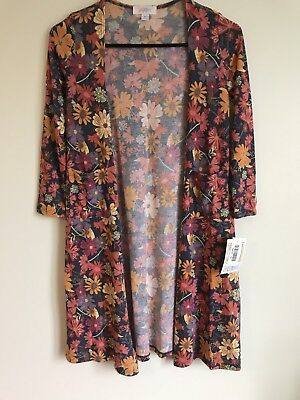 NWT LuLaRoe Kids Sariah Long Sweater With Pockets Size 10 Multicolored Floral