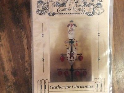 "Doll Pattern ""Gather For Christmas""  Tree Top Angel & Hanging Heart"