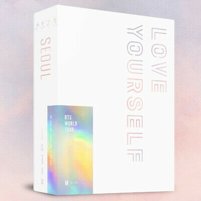 BTS WORLD TOUR LOVE YOURSELF IN SEOUL BLU-RAY 3 DISC+2ea P.Book+Card+GIFT SEALED