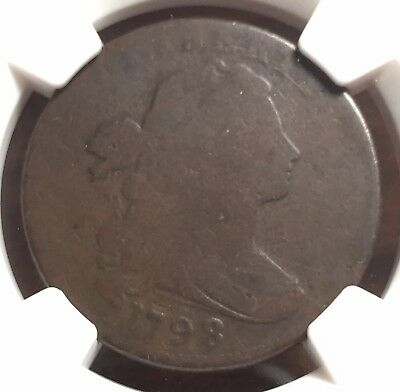 1798 Draped Bust Large (1c) Cent - NGC G04 BN