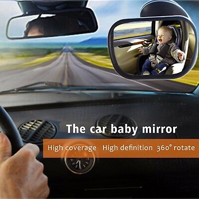 Car Rear View Back Seat Baby Child Kid Safety Mirror Large Wide Adjustable 360°