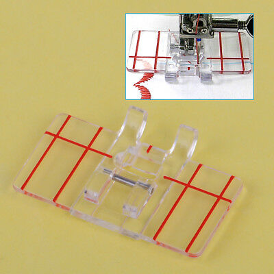 Clear Parallel Plastic Stitch Foot Feet Presser for Home Domestic Sewing Machine