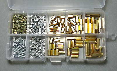 230pcs M3 Brass Spacer Kit Standoff / Screw / Nut Male Female PCB Board