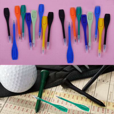 20pcs Colorful Plastic Golf Score Card Lead Pen Marker Pencil Accessory Tool