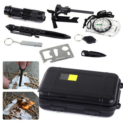 SOS Emergency Survival Tool Outdoor Equipment Tactical Hiking Camping Gear Set