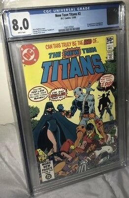 The New Teen Titans #2 1st Appearance Deathstroke CGC 8.0