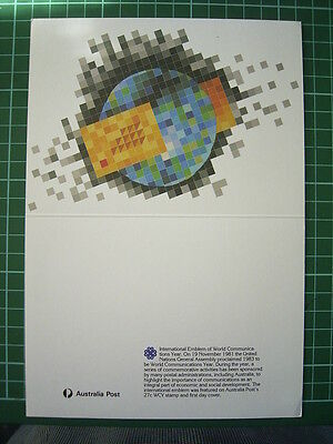 1983 AUSTRALIA POST CHRISTMAS CARD with replica's of Christmas stamps - UNUSED