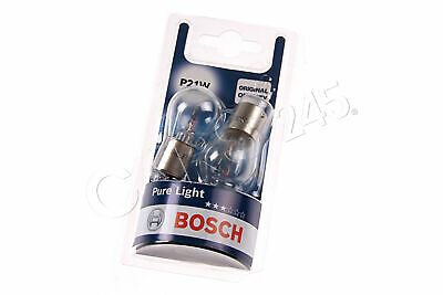 P21W Halogen Bulbs 2pcs BA15s 12V BOSCH Pure Light 1987301017