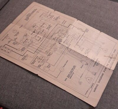 Vintage Wiring Diagram For The Wolseley Nine 1927