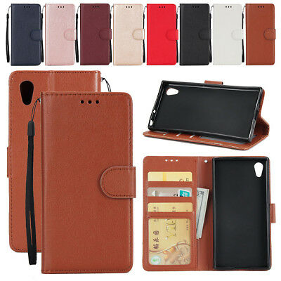 For Sony Xperia XZ/XZs/XA1 Case Magnetic Buckle Leather Wallet Flip Slot Cover