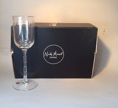 TYRONE CRYSTAL NICK MUNRO  2x  ECLIPSE 8Q CLEAR WINE GLASSES - NEW OLD STOCK