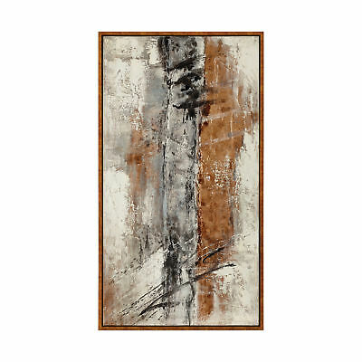 """Abstract Bronze Brown Black Oversize 58"""" Painting 