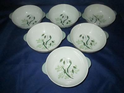 Set of Six (6) Copeland Spode Soup/Pudding Bowls Soft Whispers Harold Holdway