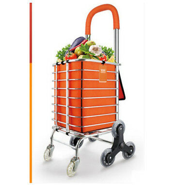 D73 Rugged Aluminium Luggage Trolley Hand Truck Folding Foldable Shopping Cart