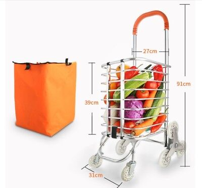 D66 Rugged Aluminium Luggage Trolley Hand Truck Folding Foldable Shopping Cart