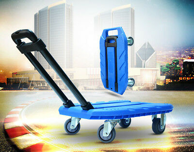 D61 Rugged Aluminium Luggage Trolley Hand Truck Folding Foldable Shopping Cart