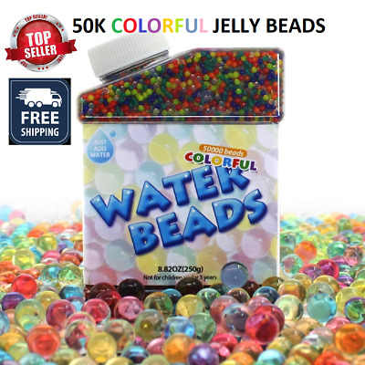 50k Jelly Water Beads Orbeez Grow Many Times Colorful Vase Filler