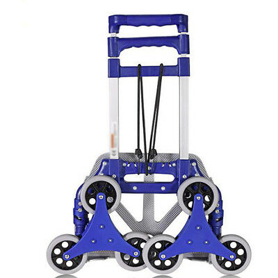 D25 Rugged Aluminium Luggage Trolley Hand Truck Folding Foldable Shopping Cart