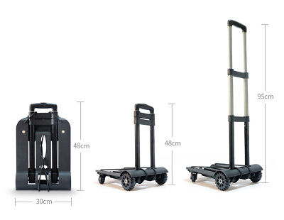 D39 Rugged Aluminium Luggage Trolley Hand Truck Folding Foldable Shopping Cart