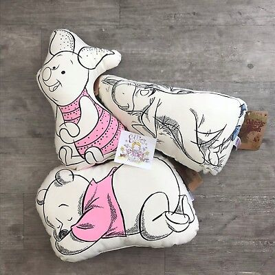 Disney Winnie The Pooh Characters Decorative Pillow Cushion Primark Home Bedroom