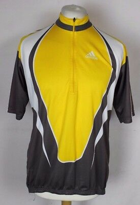 Vintage Adidas Cycling Jersey Top Mens Size Xxl Yellow