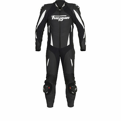 Furygan Apex Motorcycle Motorbike Leather Racing Suit Black/White |CLEARANCE