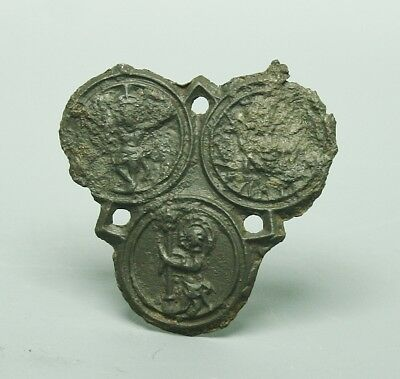 Medieval Wilsnack The 3 Hosts & The Holy Blood Pewter Pilgrim Badge (838X)