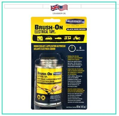 Liquid Electrical Tape 4oz/118ml, Waterproof Brush on (Black) @ £13.95*free post