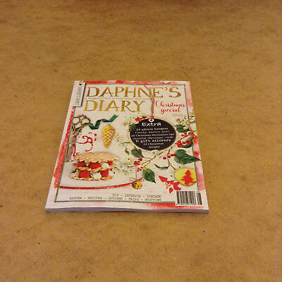 DAPHNE'S DIARY No.8 2017 CHRISTMAS SPECIAL ADVENT HANGERS GIFT STICKERS CARDS