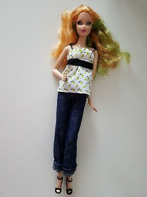 BARBIE Doll SUMMER Model Muse Steffie face copper & green wavy hair dressed