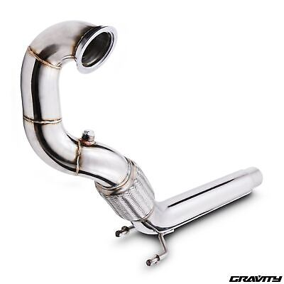 "2.5"" Stainless Exhaust De Cat Decat Downpipe For Vw Golf Beetle Mk7 1.8 Tfsi Gti"