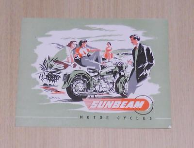 SUNBEAM Motorcycles Sales Brochure Apr 1952 - S7, S8 & Sidecar S22/50 #SM.449-20