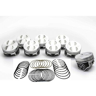 Speed Pro/TRW Ford 289 302/5.0 Forged Coated Flat Top Pistons+MOLY Rings Kit +40