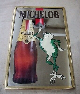 RARE FIND- Anheuser Busch Collectible MICHELOB Beer Frog Mirror Sign