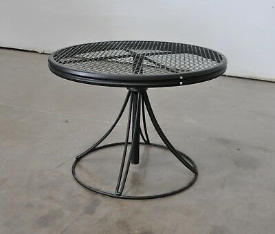 Homecrest Vtg Mid Century Modern Wrought Iron Patio Coffee Side Table Salterini