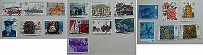 19 GB commemorative stamps of 1974-1976. Used.