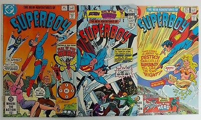 3 issues The New Adventures of Superboy - # 28, 33, 34  - DC - 1982 - VF (130)