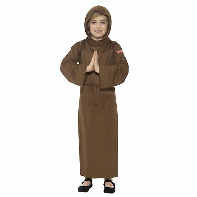 6e06565df0e4a Boys Girls Horrible Histories Medieval Monk Friar Fancy Dress Book Day  Costume