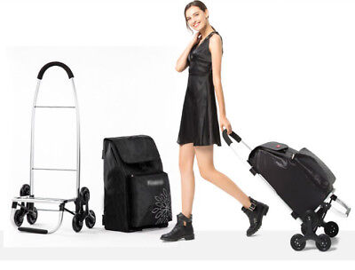 D100 Rugged Aluminium Luggage Trolley Hand Truck Folding Foldable Shopping Cart