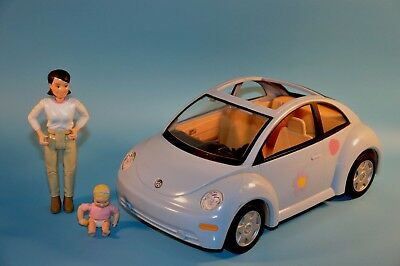 Lot Fisher Price Loving Family Dollhouse Volkswagen family Mom baby car