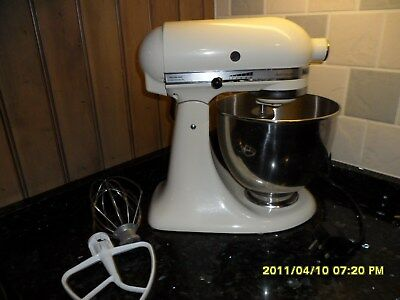 kitchenaid artisan mixer model sksm150 in cream picclick uk. Black Bedroom Furniture Sets. Home Design Ideas