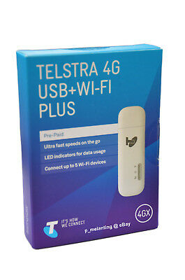 Telstra Huawei 4G/4GX Plus USB + WIFI Mobile Modem Bonus 3GB Data