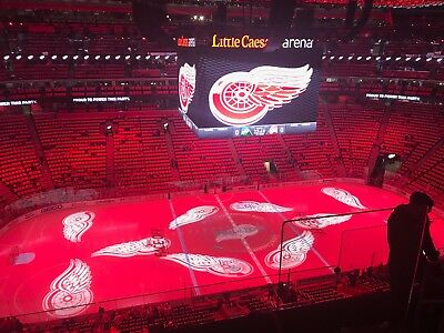2 Detroit Red Wings Tickets 1/23/18 vs Philadelphia Flyers Section 228 Row 4